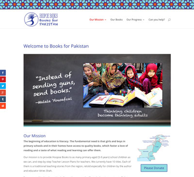 Books for Pakistan website